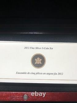 2012 Farewell To The Penny Fine Silver Proof Set Canada Mint