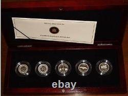 2012 Farewell to the Penny Silver Proof Coin Set 5 commemorative coins Canada