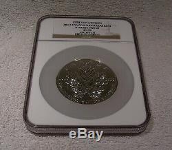 2013 $50 Canada Maple Leaf 5 Oz. 999 Silver NGC PF 69 Reverse Proof 25th Anniv