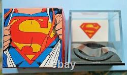 2013 SUPERMAN S-SHIELD SILVER COIN 75th ANNV CANADA $20 COLORIZED PF70 UC withBOX