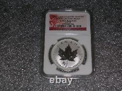 2014 1oz. Silver Canadian Maple Leaf Horse Privy Reverse Proof NGC PF 70