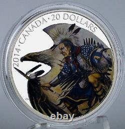 2014 $20 Nanaboozhoo and the Thunderbird's Nest 1 oz. Pure Silver Color Proof