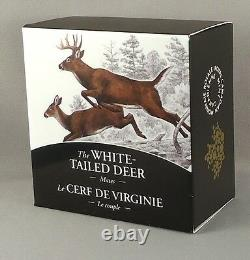2014 $20 White-Tailed Deer Mates, 1 oz. Pure Silver Proof Coin, #3 in Series