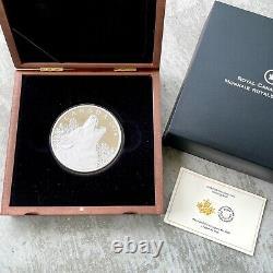 2014 Canada 1/2 Kilo. 9999 Fine Silver Coin $125 Howling Owl Wolf
