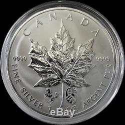 2014 Canada 1oz Silver Chinese Lunar Double Horse Privy Maple Leaf