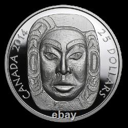 2014 Canada $25 Dollars 9999 silver coin Matriarch Moon Mask Ultra High Relief