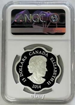 2014 Silver Canada $15 Scallop Lunar Year Of The Horse 1 Oz Proof Ngc Pf 68 Uc