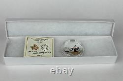 2015 $20 Looney Tunes Daffy Duck & Elmer Fudd 1 oz. 9999 Pure Silver Color Proof