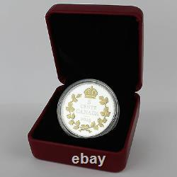 2015 5C Crossed Maple Boughs Legacy of Canada Nickel 1 oz 9999 Silver Gold-Plate