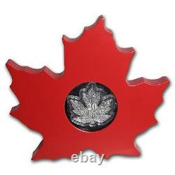 2015 Canada 1 oz Silver $20 Proof Maple Leaf Shaped Coin Brand NEW