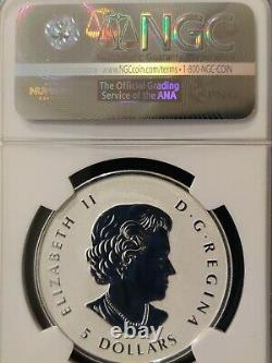 2015 Canada Maple Leaf S$5 Enameled Incuse Reverse Proof Ngc Pf70 1oz Silver