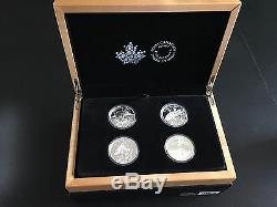 2015 Canada North American Sportfish 4 Coin $20 Silver Proof Set Case Included