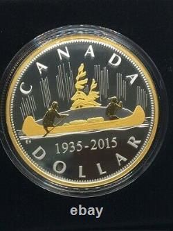 2015 Canada Voyageur Renewed Pure Silver Dollar 2oz Proof $1 Masters Club