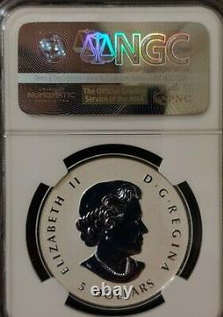 2015 NGC PF 70 Reverse Proof CANADA (5 Coin Set) Silver MAPLE LEAF $5 Incuse