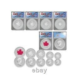 2015 Silver Canada Maple Leaf Anacs Rp-70 5 Coin Set Reverse Proof Trusted