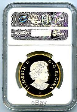 2016 $10 Canada 1/2 Oz Silver Inukshuk Ngc Pf70 Reverse Gold Plate Proof Fs