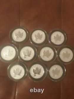 2016 10 Silver Maple MARK V TANK PRIVY 1 oz 50,000 Minted Rev Proof Capsuled