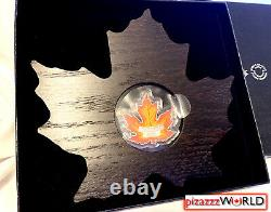 2016 $20 Canada Maple Leaf Shaped Coin 1oz 99.99% Pure Silver Colour Proof Coin