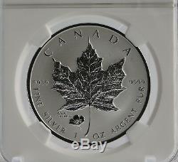 2016 $5 Canada E. R. ANA POPPY PRIVY 9999 Silver Maple Leaf Reverse PF70 RARE