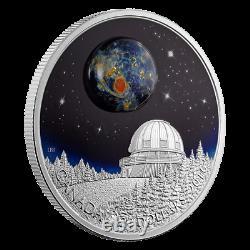 2016 Canada $20 The Universe 1 oz silver with luminescent borosilicate glass