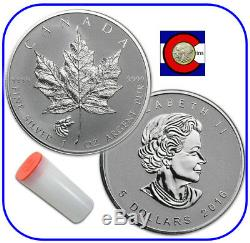 2016 Canada Maple Leaf Wolf Privy 1 oz Reverse Proof Silver Roll of 25 Coins