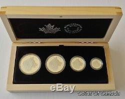 2016 Canada Wolf 4 Coin Silver Fractional Proof Set 1oz. 5oz etc #coinsofcanada