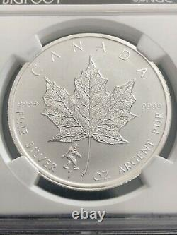 2016 Silver NGC PF69 Bigfoot Privy FDOI Maple Leaf Coin Canada Reverse Proof
