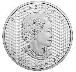 2017 2 oz. Iconic Maple Leaf Canada's 150th Anniversary Proof 9999 Fine Silver