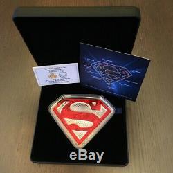 2017 Canada $100 DC Comics Originals Superman's Shield Pure Silver Coin
