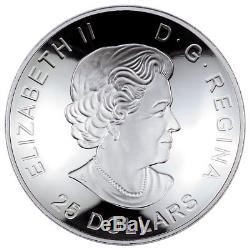 2017 Canada $25 1 oz. Glow-in-Dark Domed Colorized Proof Silver In OGP SKU44817