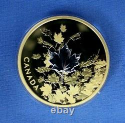 2017 Canada 3oz Silver Proof $50 coin Whispering Maples in Case with COA