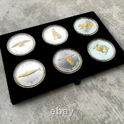 2017 Canada. 9999 Silver 5oz x 6 Coin Big Coin Set Super Complete Set