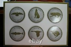 2017 Canada Big Coin Series 5oz. Fine Silver Proof 6 Coin Set in Large Case