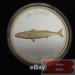 2017 Canada Big Coin Series 6x 5 oz Gold-Plated Silver Coins & Collector Case