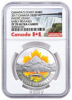 2017 Canada Coast Series Pacific Coast 1 oz Silver $20 NGC PF70 UC ER SKU48178