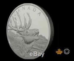 2017 Canada PROOF 1/2 Kilo $125CAD Silver'Bugling Call of the Elk' coin with OGP