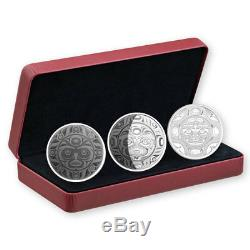 2017 Canada Phases of Moon 3-Coin Set 2 oz Silver Proof $30 In Mint Box SKU49127