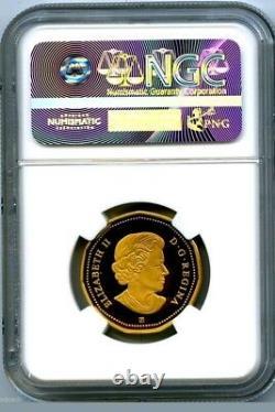 2017 Canada Silver Proof Loonie Dollar Ngc Pf70 Ucam Gilt Loon 150th Anniversary
