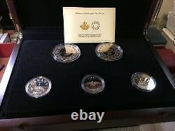 2017 RCM Legacy of the Penny, Proof Silver 5 Large Coin Set