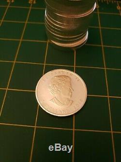 2018 1oz. 9999 Fine Silver Canada Maple Light Bulb Privy Reverse Proof 20 Roll