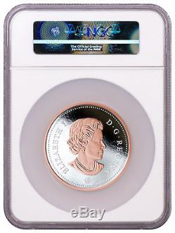 2018 Canada Big Coin Voyageur Dollar 5 oz Silver Gilt $1 NGC PF70 UC ER SKU50143