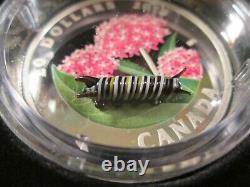 2018 Canada Monarch Caterpillar-little Creatures $20 Proof Silver Coin Aa