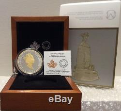 2018 Dollar Renewed Masters Club 2OZ Silver Proof $1 Coin Canada War Memorial