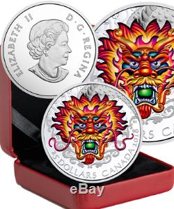 2018 Dragon Boat Festival Racing $25 1OZ Silver Proof High Relief Coin Canada