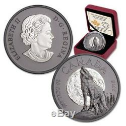 2018 HOWLING WOLF NOCTURNAL BY NATURE 1 oz 0.9999 SILVER PROOF COIN 2018 CANADA