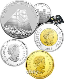 2018 Pure Silver Colourised Coin Set Classic Canadian Proof 7Pieces RCM