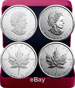 2018 Silver MapleLeaf 30th Anniversary 2OZ PureSilver Set 2 $5Coins Proof Canada