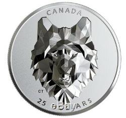 2019 2020 Canada 1oz Multifaceted Animal Head Wolf Silver Proof PR70 FDOI FIRST