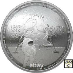 2019'50th Ann. Of the Apollo 11 Moon Landing' Proof $25 Fine Silver Coin18765