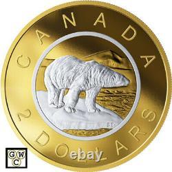 2019 5oz'Polar Bear Big Coin Series' Proof $2 Silver Coin. 9999 Fine(18602)
